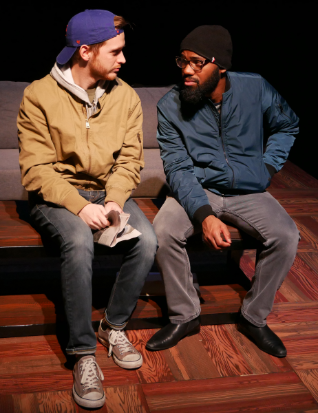 Noah Alderfer and Domonique Champion as John and Gregory in FROM WHITE PLAINS