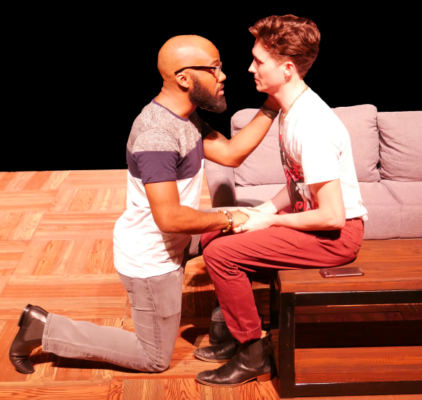 Domonique Champion and Wesley Whitson as Gregory and Dennis in FROM WHITE PLAINS